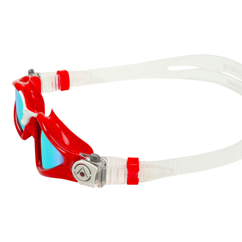 Aqua Sphere Kayenne Small Men's Swimming Goggles Red/White Mirror Blue Alternate 3