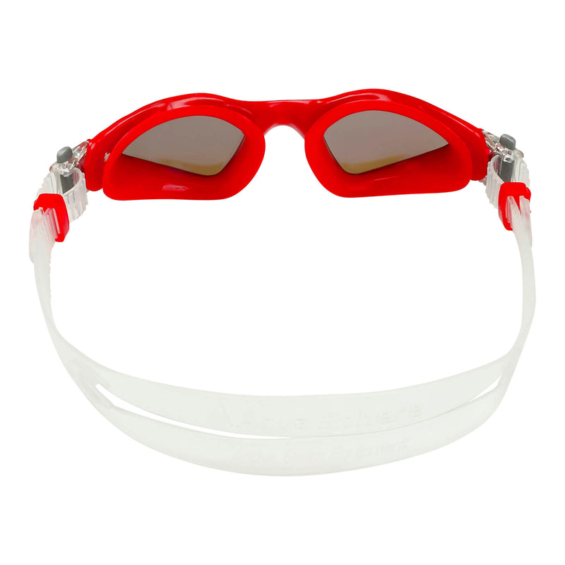 Aqua Sphere Kayenne Small Men's Swimming Goggles Red/White Mirror Blue Alternate 4