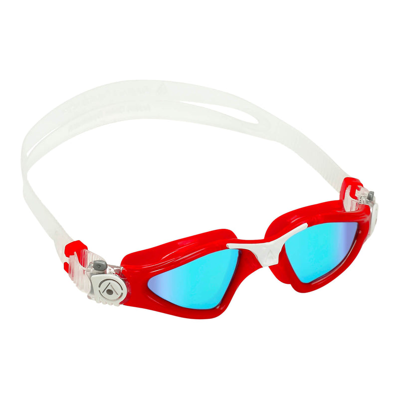 Aqua Sphere Kayenne Small Men's Swimming Goggles Red/White Mirror Blue
