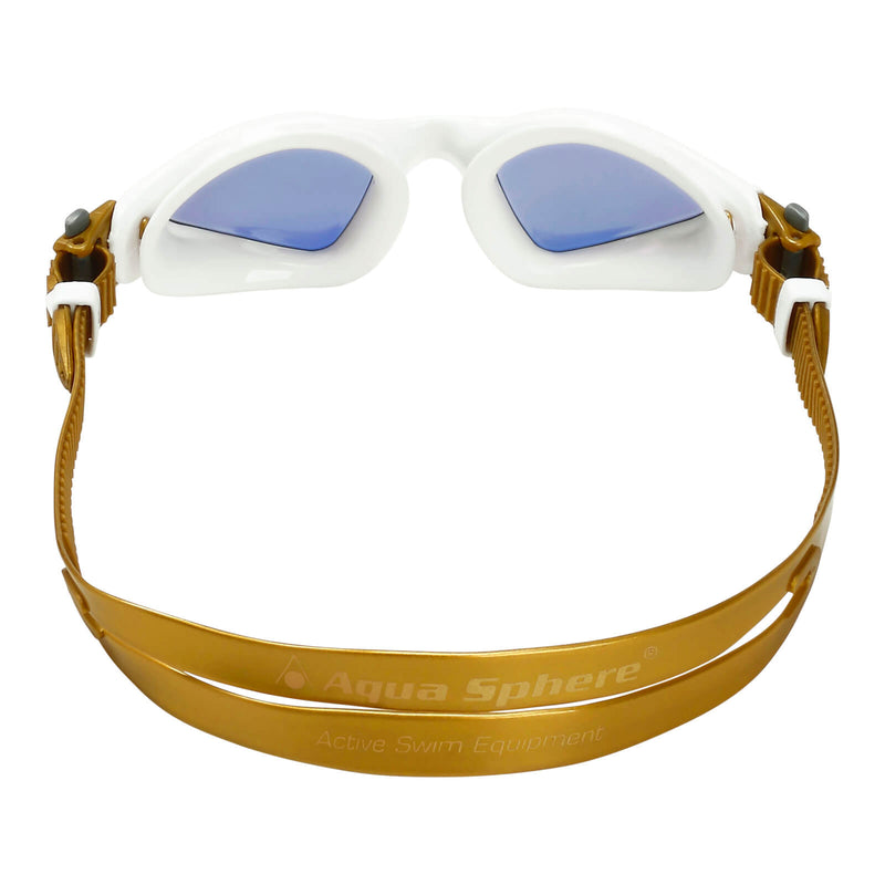 Aqua Sphere Kayenne Small Men's Swimming Goggles White/Gold Mirror Gold Alternate 4