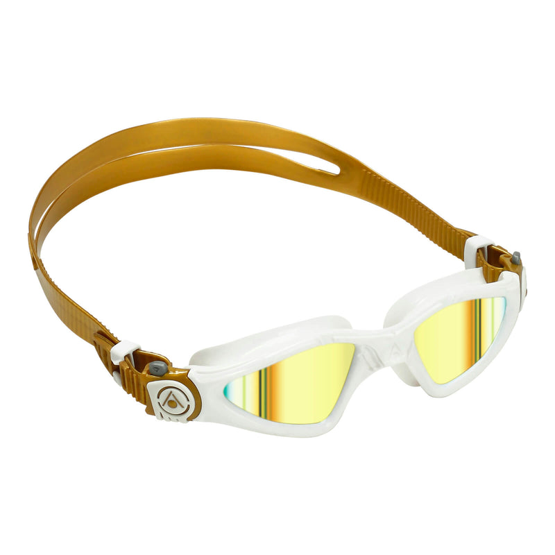 Aqua Sphere Kayenne Small Men's Swimming Goggles White/Gold Mirror Gold
