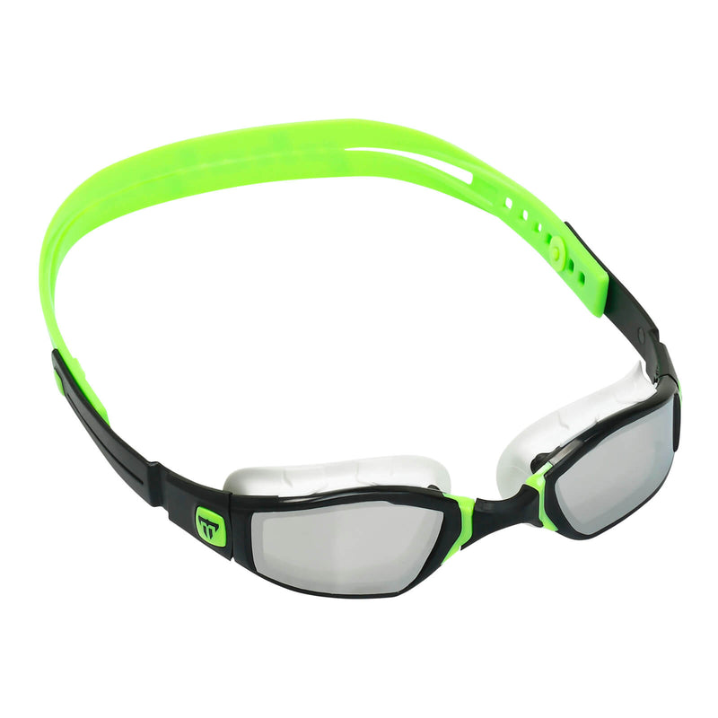 Phelps Ninja Men's Swimming Goggles Black/Green Mirror Silver