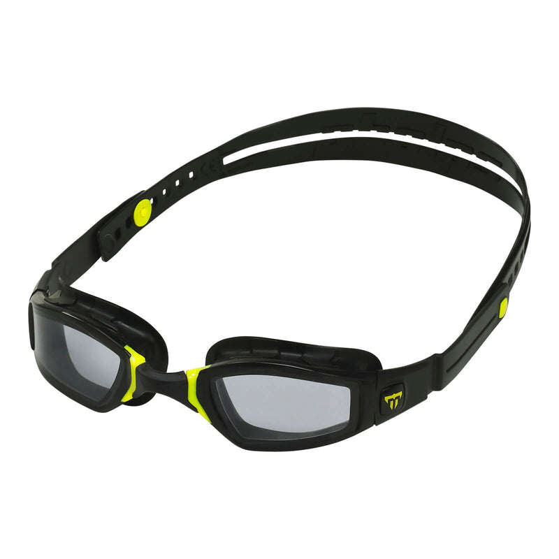 Phelps Ninja Men's Swimming Goggles Black/Yellow Smoke Alternate 2