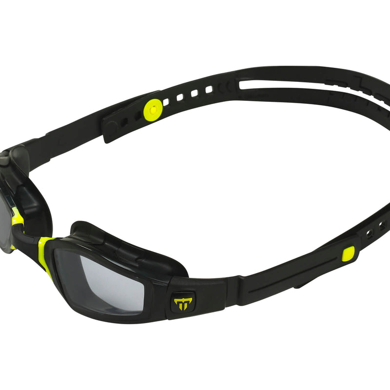 Phelps Ninja Men's Swimming Goggles Black/Yellow Smoke Alternate 3