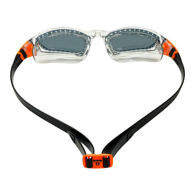 Phelps Tiburon Men's Swimming Goggles Transparent/Orange Smoke Alternate 4