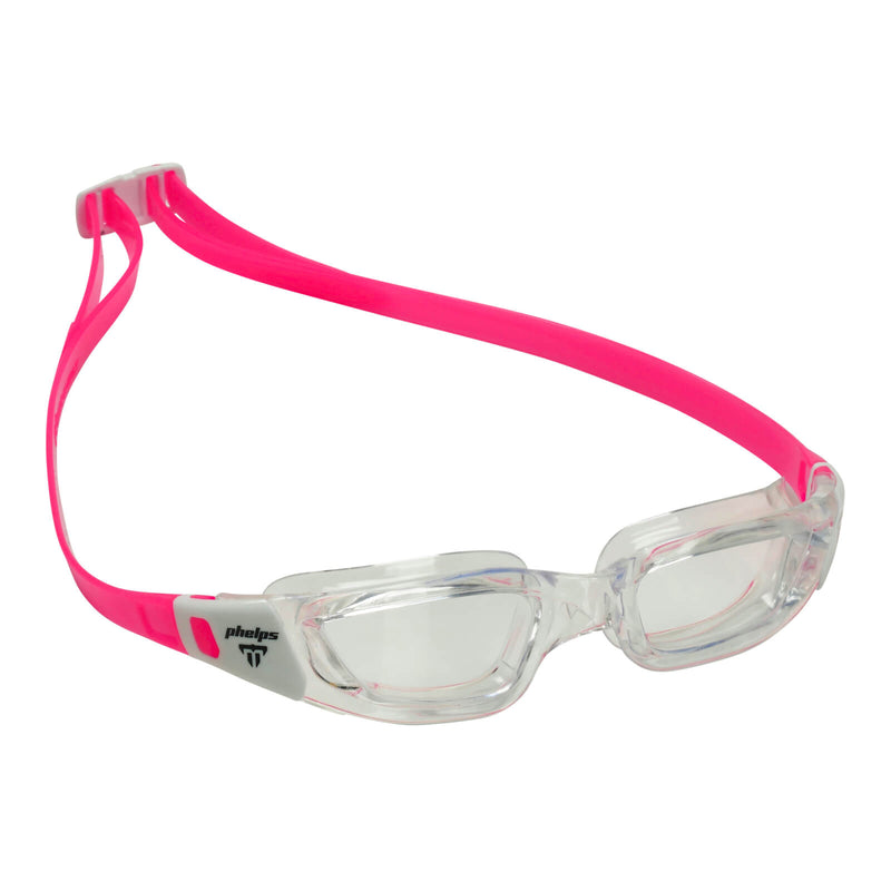 Phelps Tiburon Junior Kid's Swimming Goggles Transparent/White Clear