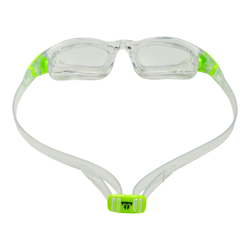 Phelps Tiburon Junior Kid's Swimming Goggles Transparent/Bright Green Clear Alternate 3