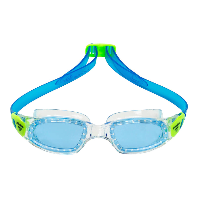 Phelps Tiburon Kid Kid's Swimming Goggles Pink/Bright Green Blue Alternate 1