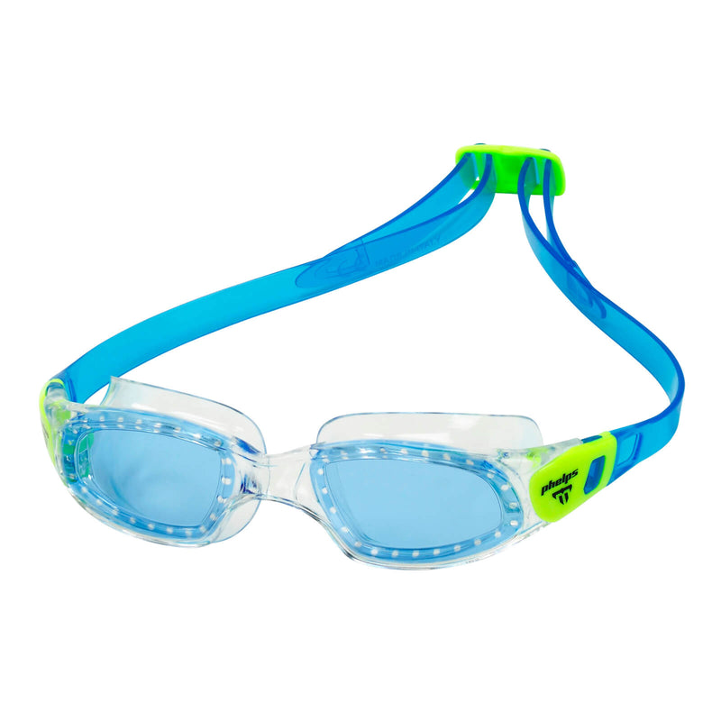 Phelps Tiburon Kid Kid's Swimming Goggles Pink/Bright Green Blue Alternate 2