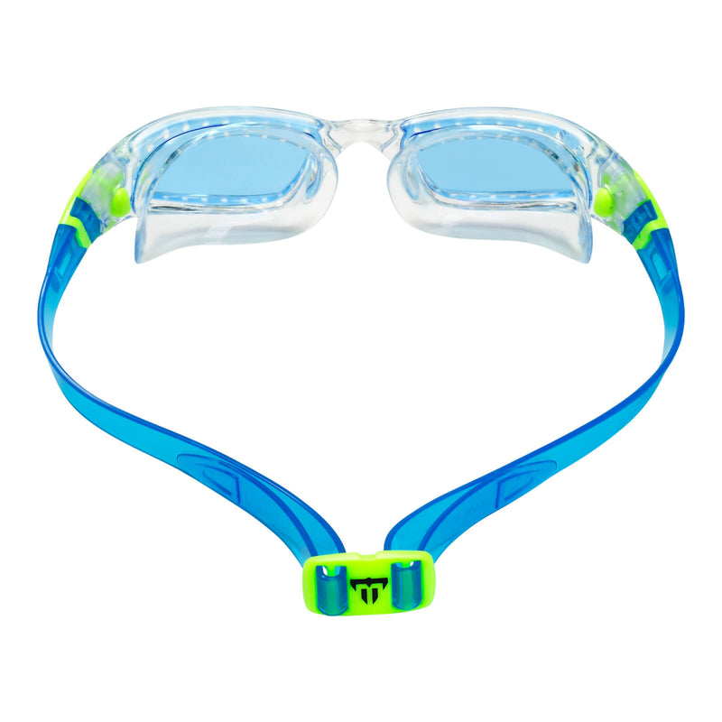 Phelps Tiburon Kid Kid's Swimming Goggles Pink/Bright Green Blue Alternate 3