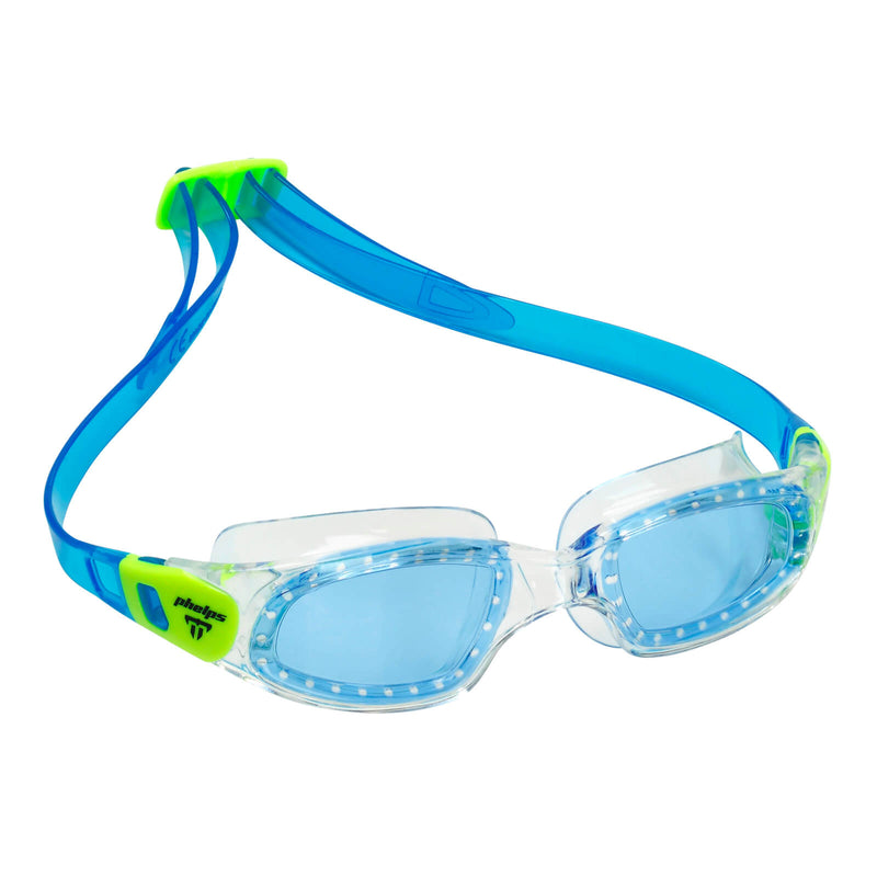 Phelps Tiburon Kid Kid's Swimming Goggles Pink/Bright Green Blue
