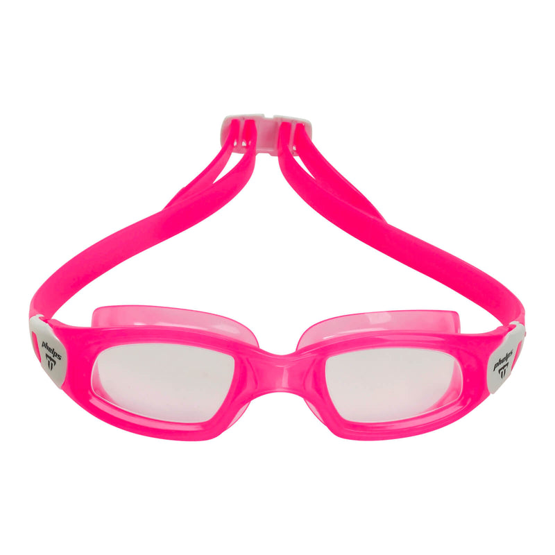 Phelps Tiburon Kid Kid's Swimming Goggles Pink/White Clear Alternate 1
