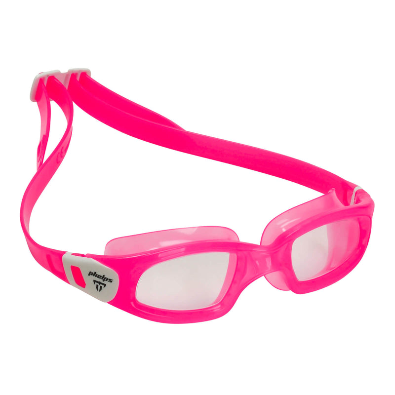 Phelps Tiburon Kid Kid's Swimming Goggles Pink/White Clear