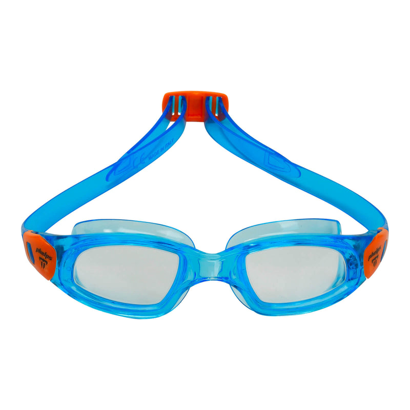 Phelps Tiburon Kid Kid's Swimming Goggles Turquoise/Orange Clear Alternate 1