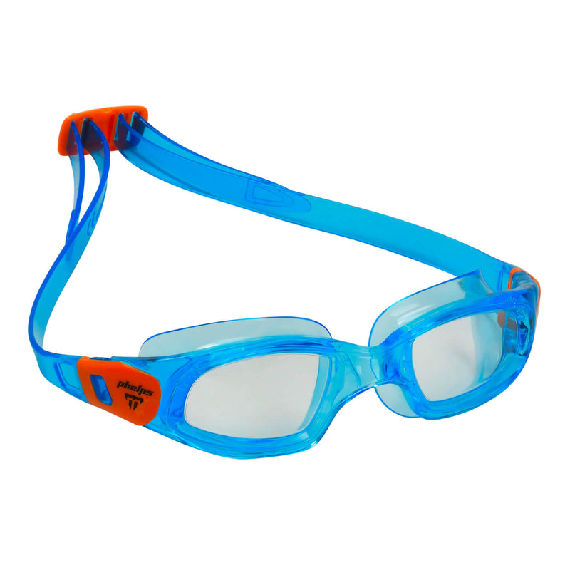 Phelps Tiburon Kid Kid's Swimming Goggles Turquoise/Orange Clear