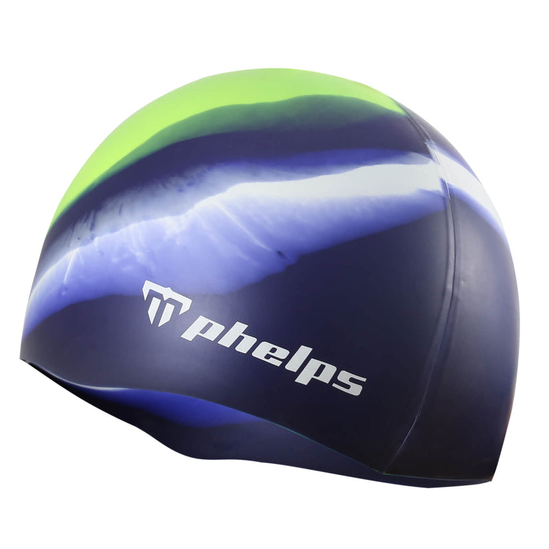 Phelps Classic Junior Men's Swimming Cap Bright Yellow/Navy Blue