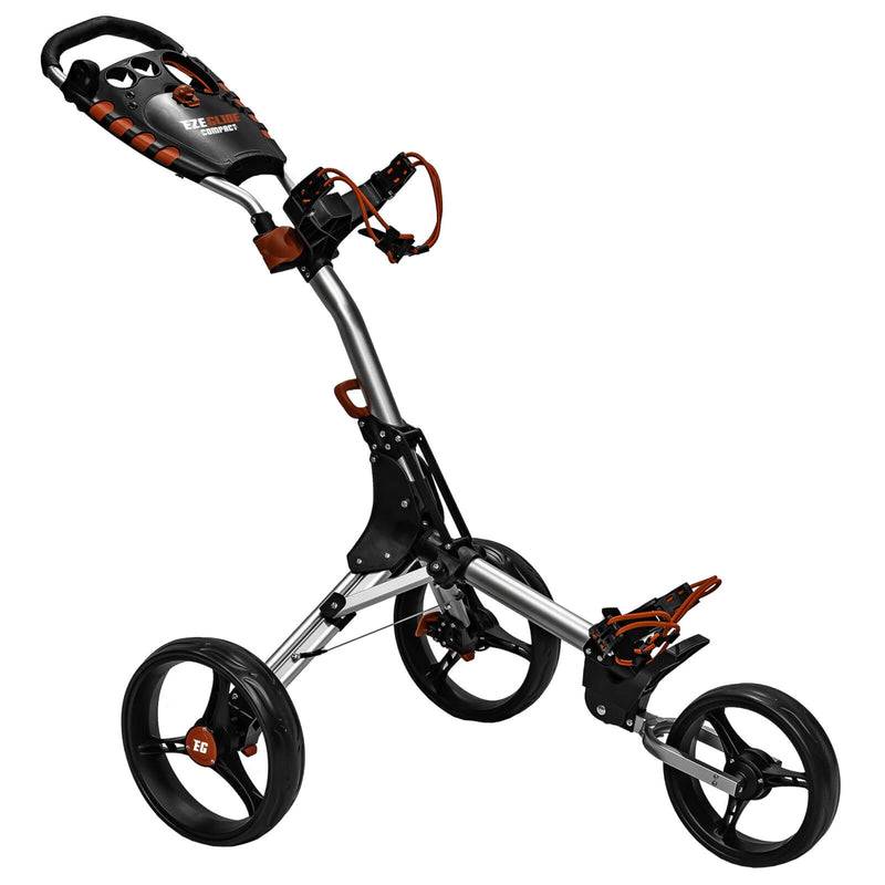 Ezeglide Compact Plus Push Golf Club Trolley Silver