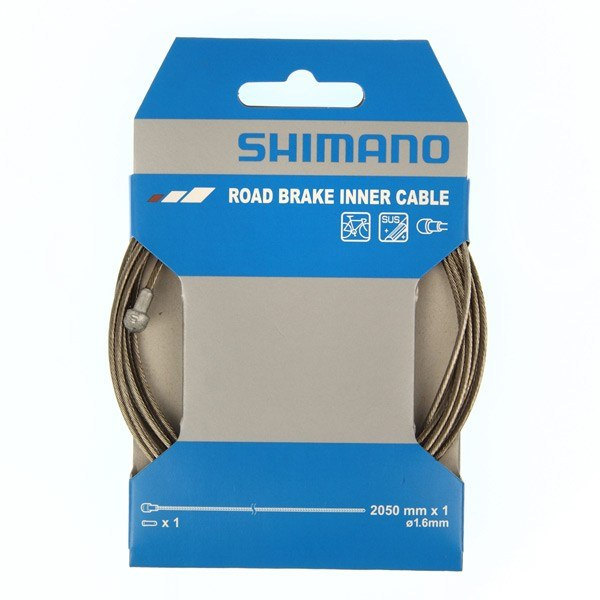 Shimano Stainless Steel Road 1.6x2050mm Inner Brake Cable