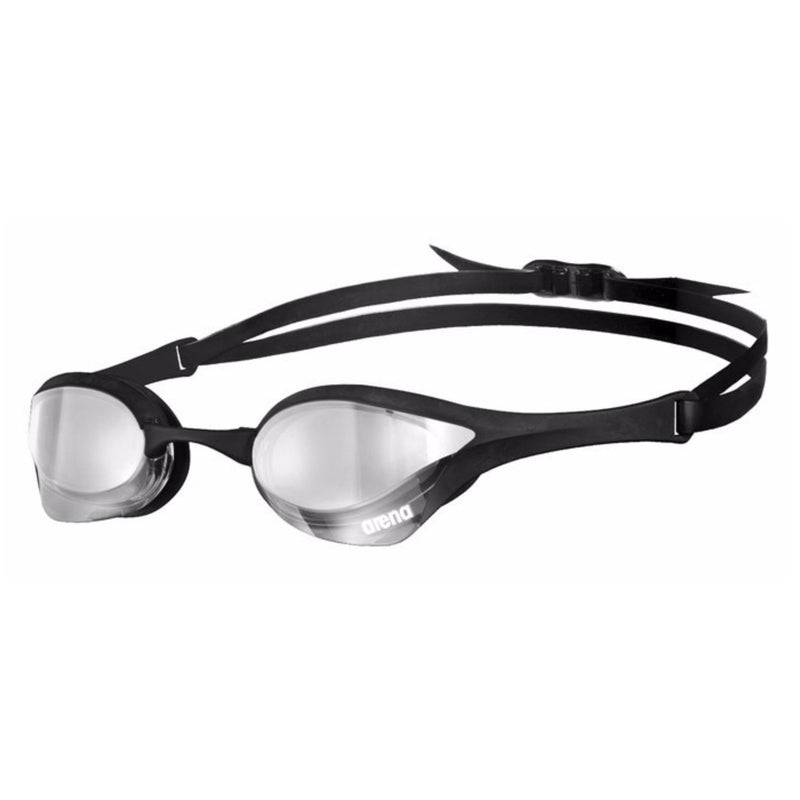 Arena Cobra Ultra Mirrored Swimming Goggles - Silver/Silver/Black