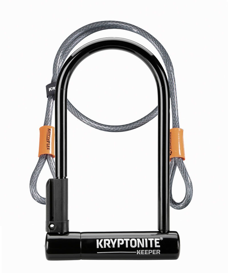 Kryptonite Keeper 12 Standard Bike D Lock With 4' Flex Cable