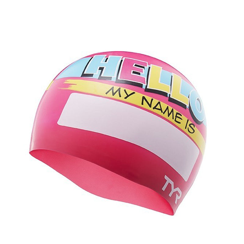 TYR Hello My Name Is Kid's Swimming Cap