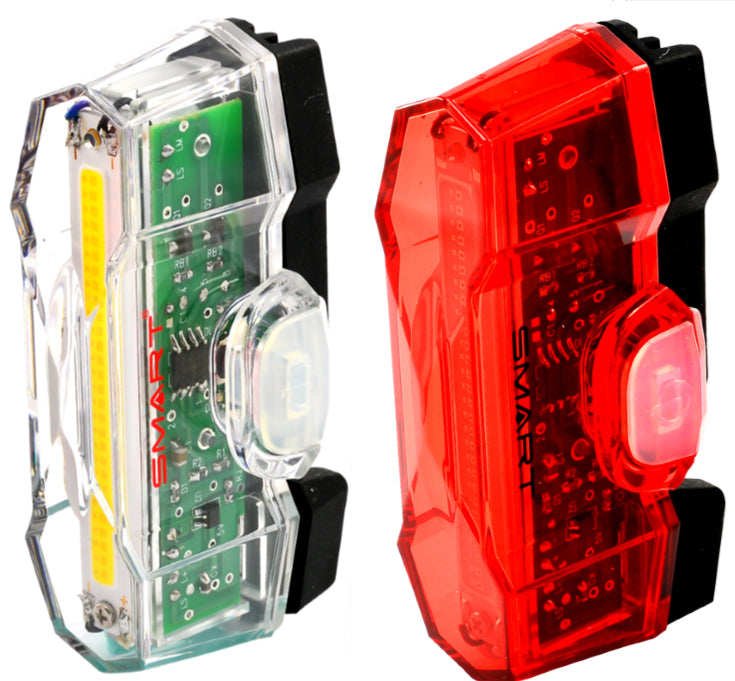 Smart Vulcan Front & Rear USB Rechargeable Bike Light Set