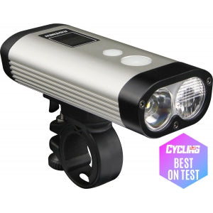 Cycle Bike Light Ravemen PR900 Rechargable With Remote 900 Lumens Silver