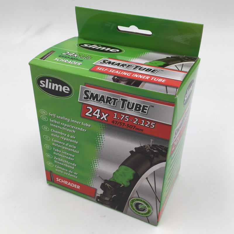 "Slime Smart 24x1.75-2.125"" Self Sealing Schrader Bike Inner Tube"