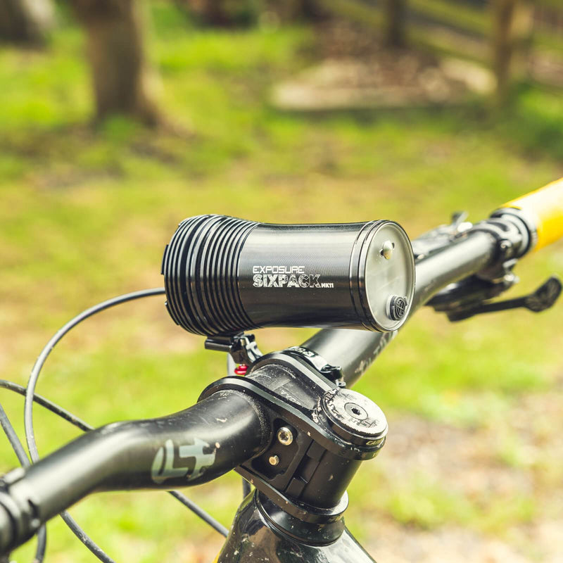 USE Exposure Six Pack Mk11 With QR Handlebar Mount Front Bike Light Alternate 1