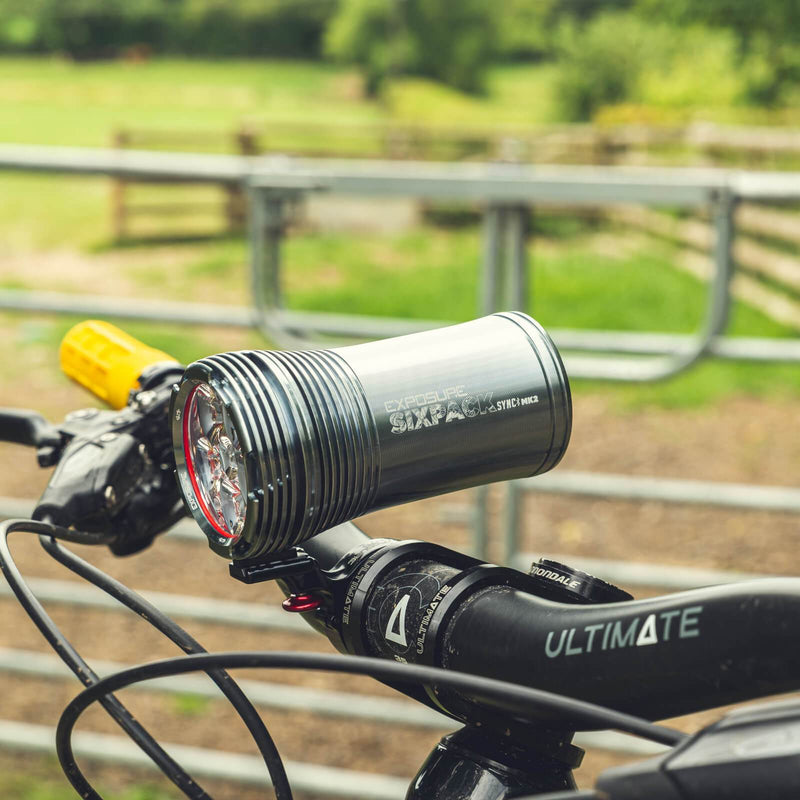 USE Exposure Six Pack Sync Mk2 With QR Handlebar Mount & Remote Front Bike Light Alternate 1