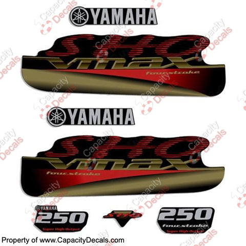 YAMAHA 250HP VMAX SHO FOURSTROKE DECALS - PICK COLOR!