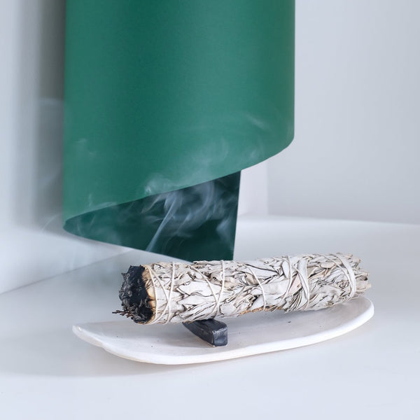 1331 white sage smudge stick burn