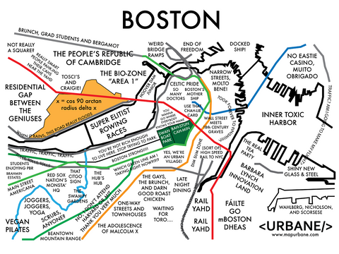 Boston: Neighborhood Culture Map Canvas Tote