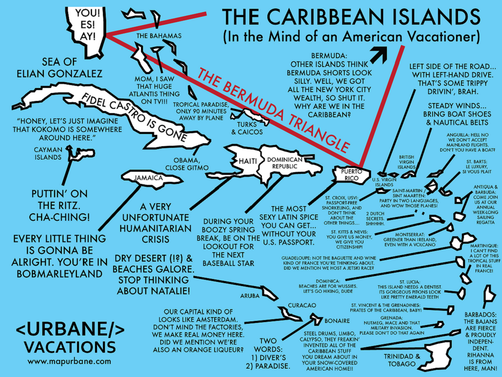 The Caribbean: A Traveler's Cultural Guide Map Canvas Tote