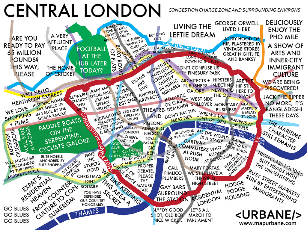 Map Of London With Neighborhoods.London Neighborhood Culture Map