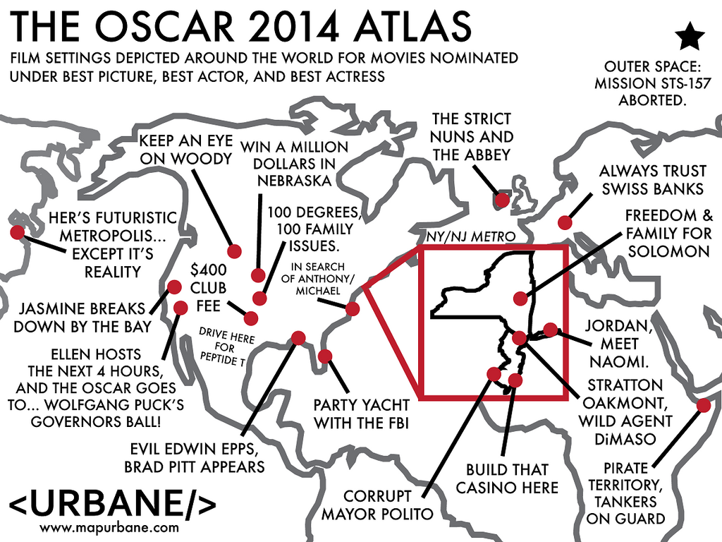 2014 Oscars: International Film Atlas
