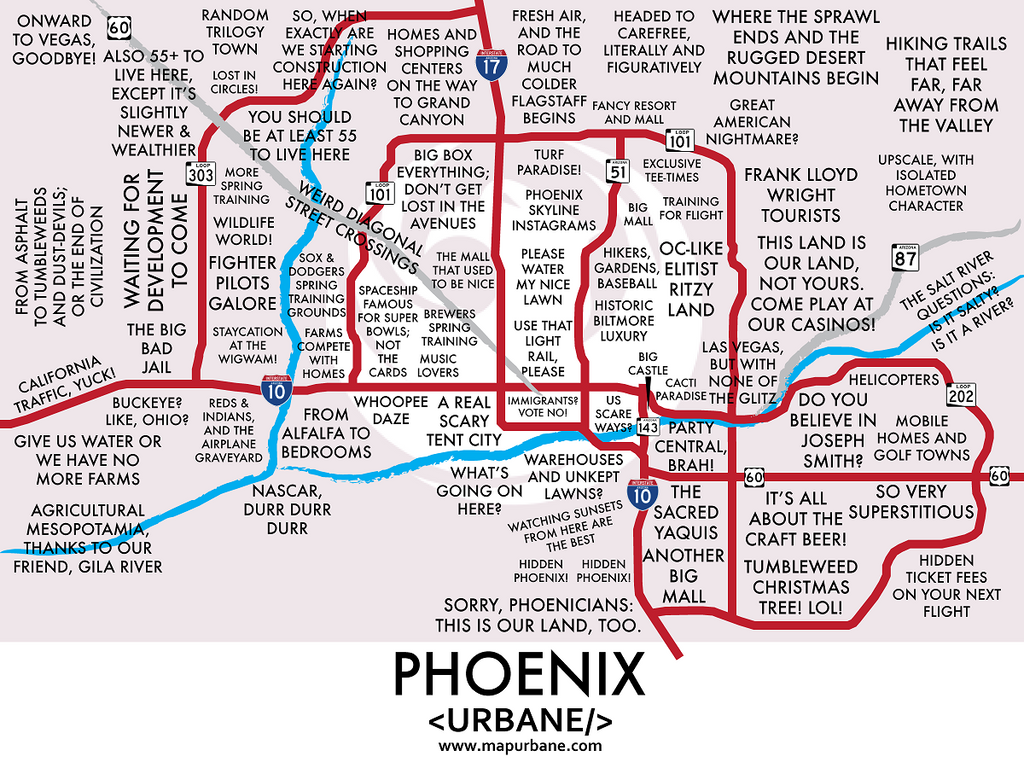 Phoenix: Neighborhood Culture Map Mug – Urbane Map Store on