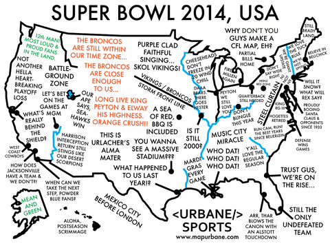 2014 Super Bowl: A Nationwide Guide for the Big Game Canvas Tote