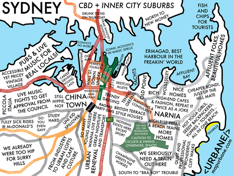 Sydney: Neighborhood Culture Map