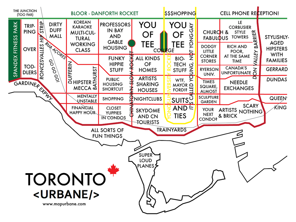 Toronto: Neighborhood Culture Map Canvas Tote