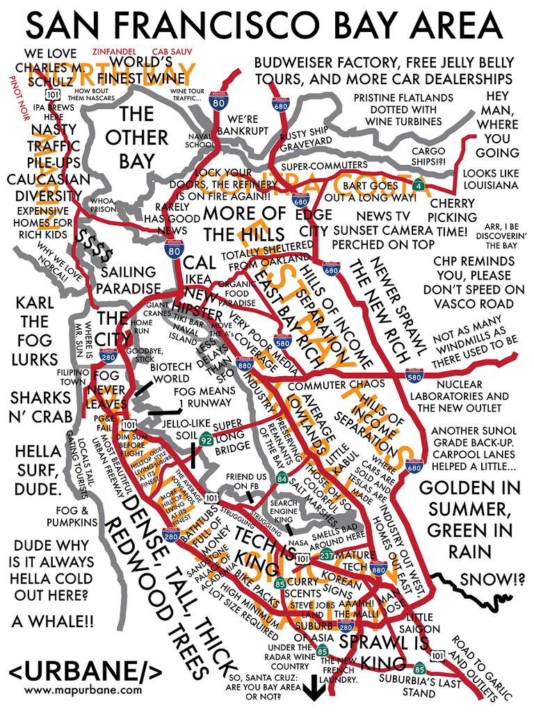 San Francisco Bay Area: Culture Map