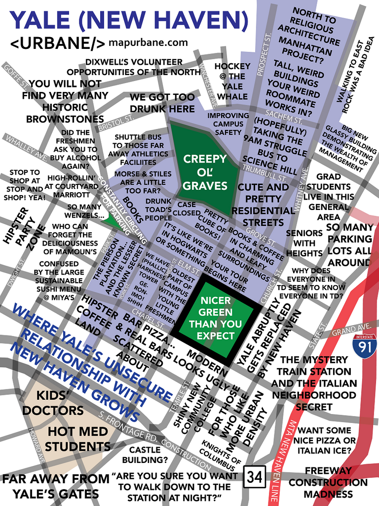 Yale University: Campus Culture Map – Urbane Map Store