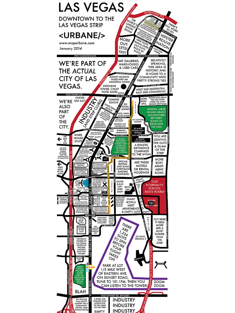 The Las Vegas Strip: Culture Map T-Shirt