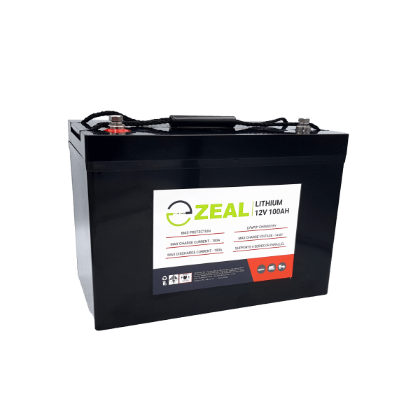 Zeal Battery Zeal 12V 100Ah LiFePO4 Lithium Battery