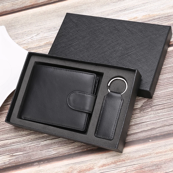 Leather Wallet Box Set with Monogram