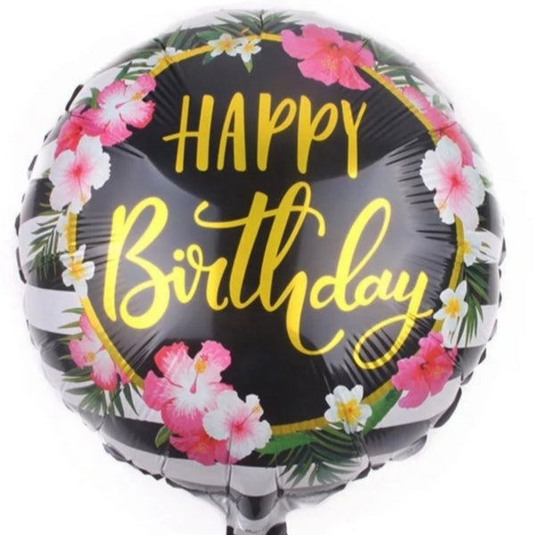Happy Birthday Balloon - Floral