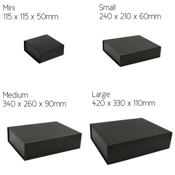 Black Gift Box - Matt Black with Magnetic Lid (Blank)