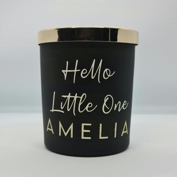 Hello Little One Candle (Personalised)