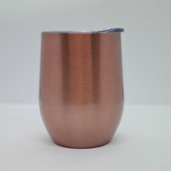 12oz Wine Tumbler (Rose Gold Shimmer)