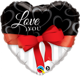 Love You Red Ribbon Balloon